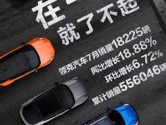 领克7月销量公布 累计超1.8万辆 同比增长18.88%